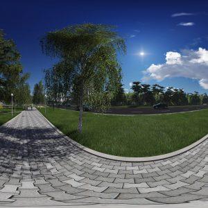 Панорама пешеходной дорожки